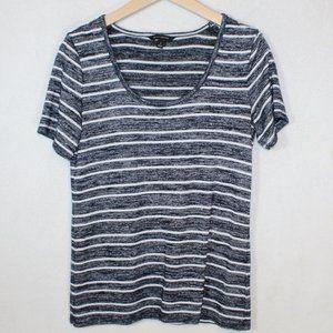 Banana Republic navy striped short sleeve t shirt